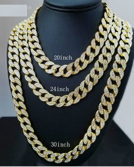 223b9b3b8265 iced out 15mm Bling rhinestone Miami cubano cadena de enlace hip hop pulsera  oro plata. Sale!  30.000  25.000. 8991-kr2run.jpeg