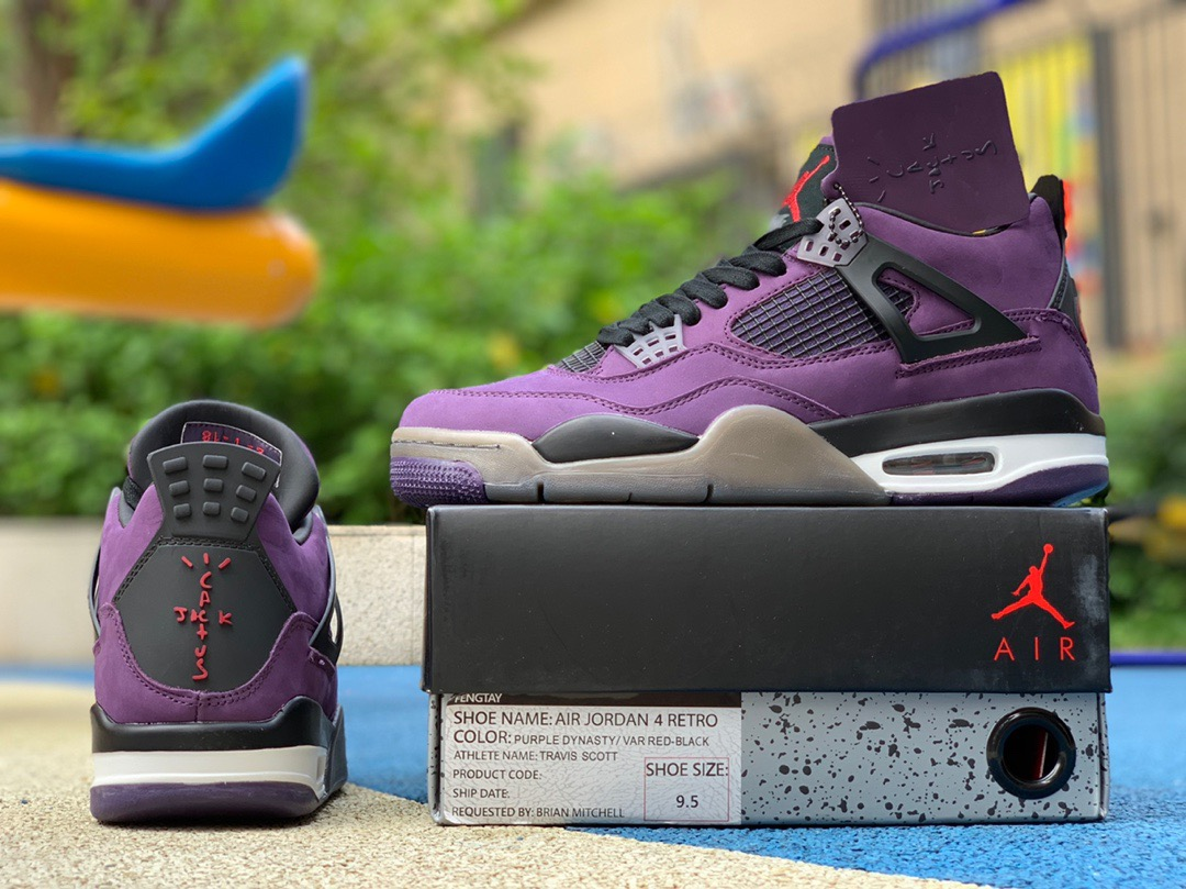 new product b0c75 d5060 Air Jordan 4 Travis Scott Purple